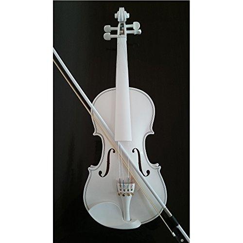 Student Akustische Violine Full 4/4Fichte aus Ahorn mit Fall Schleife Kolophonium ganze weiß Farbe