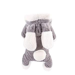 PRIMA Manteau d'hiver Design de quatre pattes pour chien chiot petit ou moyen vêtement de déguisement pour Noel super mignon pour chiens ou chats manteau à capuche pour animal de compagnie