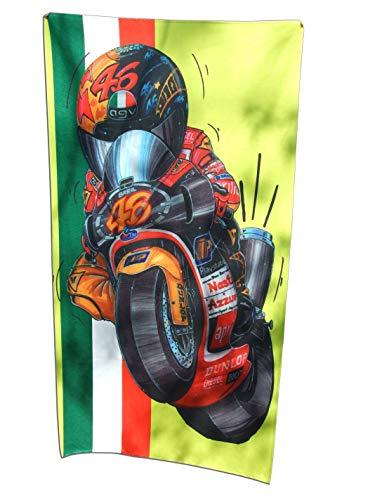 KOOLART Aprilla 250CC GP V. Rossi - Toalla de Playa Extragrande, 140 x 70 cm