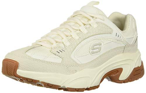 Skechers Women's STAMINA-CLASSY TRAIL Trainers, Off-White (Off White Suede/Mesh/Off White & Gum Trim Ofwt), 5.5 (38.5 EU)