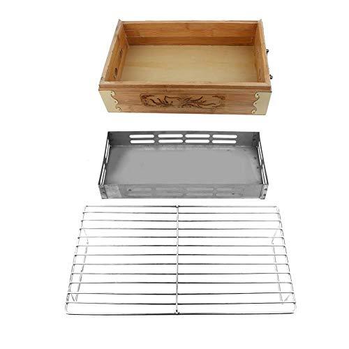 Jingyi Outdoor-Grill, Haushalt Outdoor-Grill Grill Tragbarer quadratischer Grill Kochutensilien Holzkohle-Backblech, Haushalts-Grill