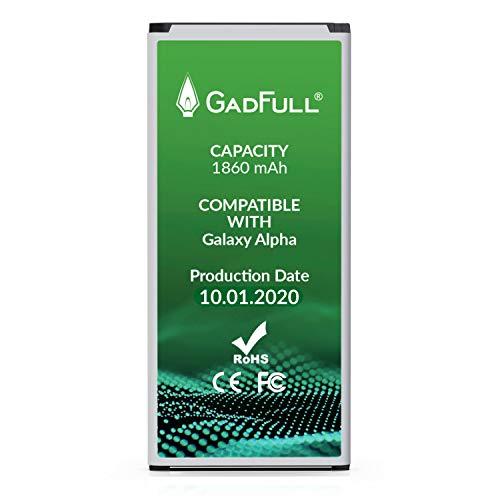 GadFull Batería de reemplazo para Samsung Galaxy Alpha | 2020 Fecha de producción | Corresponde al Original EB-BG850BBE | Compatible con G850F batería de Repuesto