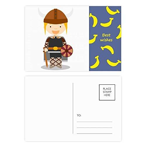 Postkarten-Set Schweden-Wikinger, Bananenmotiv, 20 Stück