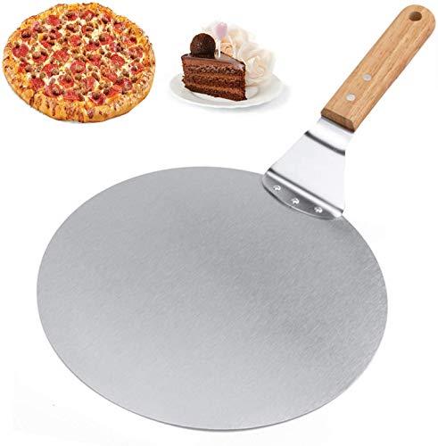 Pala Pizza, Alyssa Pala Profesional para Pizza de Acero Inoxidable, para Hornear Pizza Casera y Pasteles, Ideal para Celebración de Fiestas de Pizza