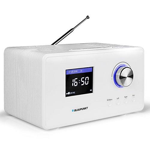 Blaupunkt IR 25 Internetradio, UKW PLL Radio mit Farbdisplay , Wlan, Küchenradio mit LCD Display 2,8 Zoll, Wecker mit Radio oder Alarmton, Wettervorhersage, Sleep Timer, Webradio, 5 Watt RMS, weiß