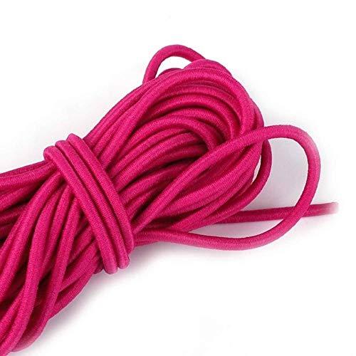 2.5mm colorido de alta elasticidad de alta calidad banda elástica redonda cuerda elástica redonda banda de goma línea elástica accesorios de costura de bricolaje, fucsia