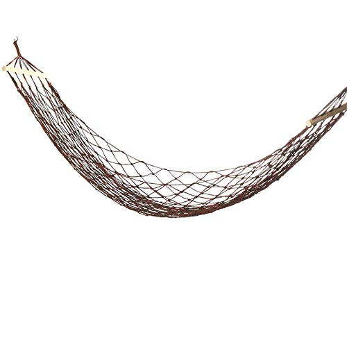 Hamacas de nailon tejido de 270 x 100 cm, hamaca para personas individuales, columpio, camping, viajes, jardín, carga máxima: 150 kg, para acampar al aire libre (tamaño: 270 x 100 cm; color: rojo)