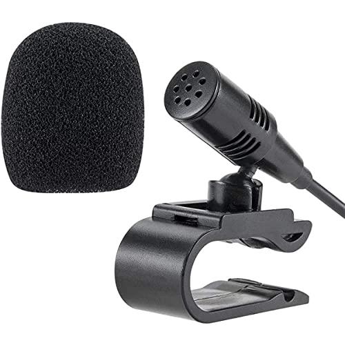 NewTH Micrófono externo de 2,5 mm para radio de coche Pioneer, unidad principal con Bluetooth, audio estéreo, DVD GPS, Plug and Play (9,85 FT)
