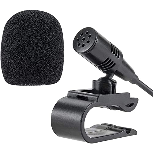 NewTH Mikrofon 2.5 mm Externes Mic für Pioneer Auto Radio Fahrzeug Haupteinheit Bluetooth Audio Stereo DVD GPS, Plug and Play (9.85 FT)