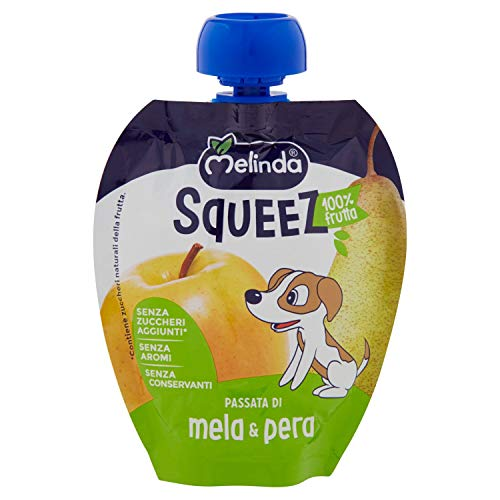 Melinda Squeez Mela e Pera, Confezione da 6, Multicolore
