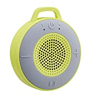 AmazonBasics Wireless Shower Speaker with 5W Driver, Suction Cup, Built-in Mic - Lime Green
