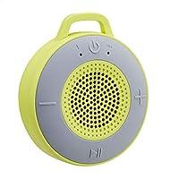 AmazonBasics - Altavoz inalámbrico para ducha, incluye ventosa y micrófono incorporado, 5 W, verde lima