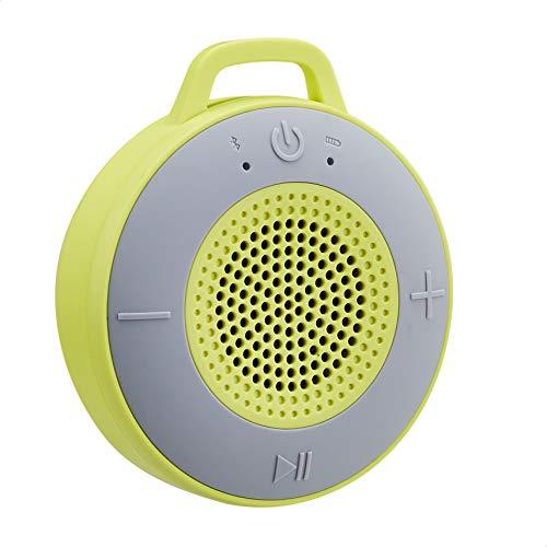 Amazon Basics - Altavoz inalámbrico para ducha, incluye ventosa y micrófono incorporado,...