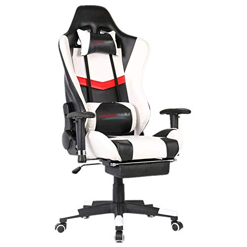 Las sillas de oficina silla de respaldo alto de juego de PC ordenador con reposabrazos ajustable Inicio de videojuegos Silla giratoria conveniente for la oficina o el hogar (Color: Color de imagen, ta