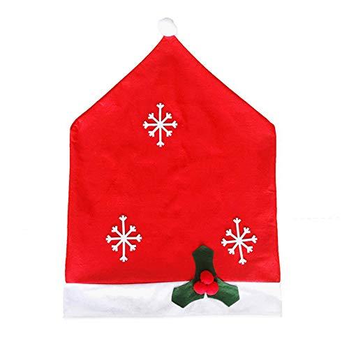 Kentop Navidad Cocina Comedor Silla Cubiertas Patrón de Copo de Nieve Decoración de Navidad