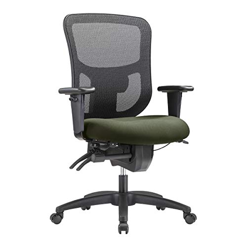 WorkPro 9500XL Big and Tall Fabric/Mesh Mid-Back Multifunction Chair, Olive/Black