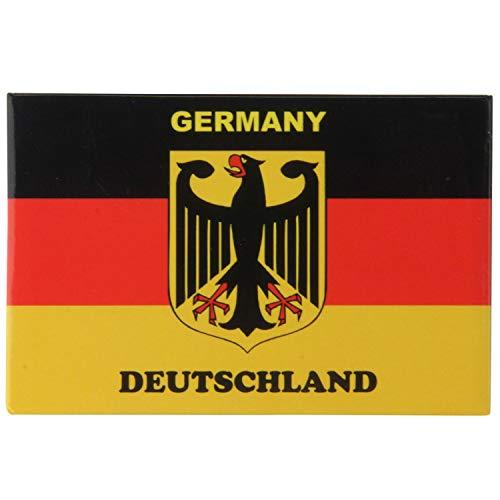 Pawlowski Souvenirs und Postkarten Kühlschrankmagnet 8 cm x 5,5 cm Germany Deutschland Flagge