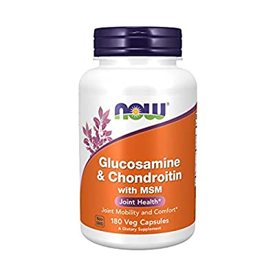 Now Foods Glucosamine und Chondroitin Mit MSM Für die Gelenke, 180 Kapseln