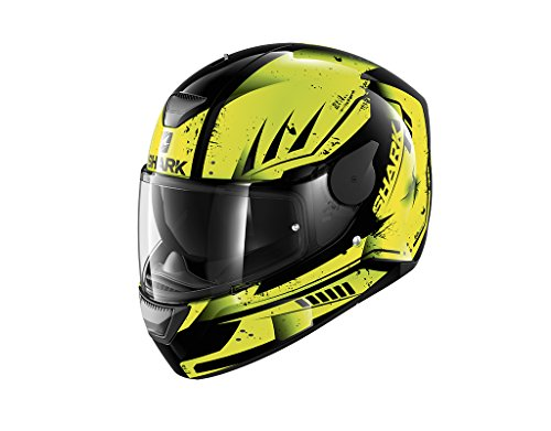 Casco integral amarillo, talla M, color negro/amarillo