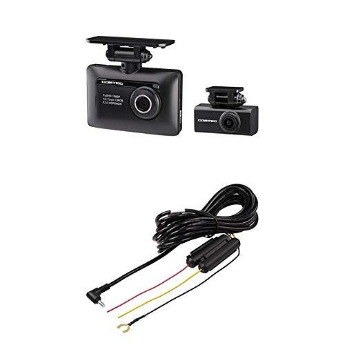 コムテック 前後2カメラ ZDR-015(前後2カメラ)ドライブレコーダー+駐車監視用直接配線コードHDROP-09セット