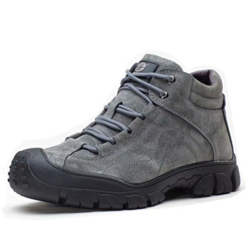 Botas de Seguridad Invierno Hombre Muje Calentitas Impermeable Antideslizantes Zapatos de Trabajo con Puntera de Acero Gris 36
