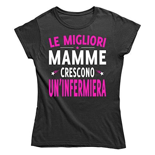 Vulfire Maglietta Donna Le Migliori Mamme crescono un infermiera (Nero, L)