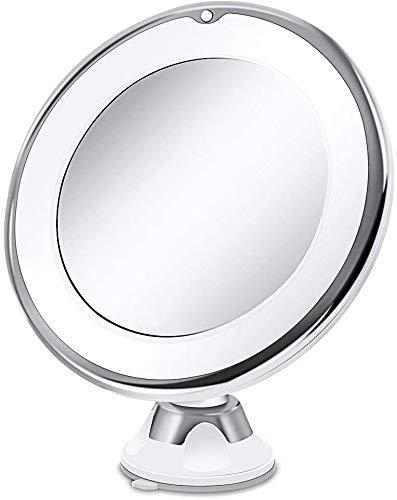 XHDMJ Led-Schminkspiegel, Schminkspiegel Und Tragbare Handkosmetik Mit 10-Facher Led-Beleuchtung Beleuchten Den Spiegel