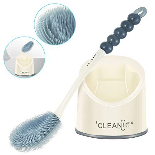 Toilettenbürste,Badezimmer wc bürste und Halter, stabiles Reinigungs wc bürste Set für Badezimmer Aufbewahrung und Organisation schnell trocknend Pinsel mit feinen und harten Borsten
