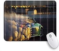 ZOMOY マウスパッド 個性的 おしゃれ 柔軟 かわいい ゴム製裏面 ゲーミングマウスパッド PC ノートパソコン オフィス用 デスクマット 滑り止め 耐久性が良い おもしろいパターン (煙のあるレーシングカー)