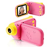 vatenick Kids Camera Children Digital Cameras Kids Gift Video Recorder Shockproof 2.4 inch HD Screen 1080P 32GB TF Card Gifts Toy for 3 to 12 Years Old Boys and Girls (pink)