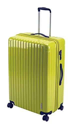 キャプテンスタッグ(CAPTAIN STAG) スーツケース キャリーケース キャリーバッグ 超軽量 TSAロック ダブルホイール 360度回転 静音 ダブルファスナータイプ Lサイズ レモン パルティール UV-67