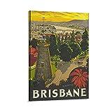 Vintage-Poster Brisbane, dekoratives Gemälde, Leinwand,