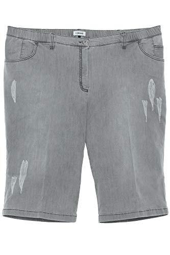 KjBrand Betty Jeans Shorts Bermuda Stretchjeans Damen Denim Plusgröße, Farbe:grau, Damengrößen:54