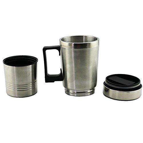 HJJH Wasser-Heizungs-Becher, 12V Auto-Heizungs-Schalen-Auto, Vakuumisoliertes Auto-Wasserkocher-Heizung Edelstahl-Auto-Zigaretten-Feuerzeug-Heizungs-Schalen-Kaffeetasse