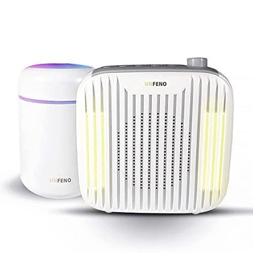 UNFENO 2 EN 1 Machine à bruit blanc à 18 sons apaisants pour meilleur sommeil et Humidificateur d