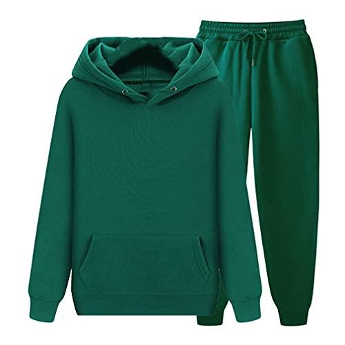 Traje de ropa casual unisex para ropa deportiva y pantalones, verde, XXX-Large