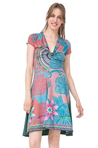 Desigual Vest_Little Rock Vestido, Azul (Tile Blue 5156), Medium para Mujer