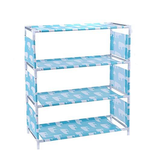JIADUOBAO Zapateros, caja de almacenamiento, bastidores de baño, muebles de pasillo, armarios, cajones, soporte para paraguas, estantes de armario de zapatos no tejidos de nivel 3/4 (color: A)