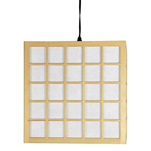 Hot Sale Oriental Furniture Portable Shoji Ceiling Light Swag Lamp, 12.5-Inch Japanese Hanging Ceiling Lantern, Natural
