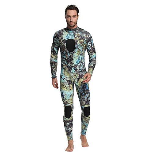 LOPILY Herren Mode Neoprenanzug Surfbekleidung 3MM Ganzkörperanzug Schwimmanzug Tauchanzug Schwimmen Surfen Tauchen Sport Badeanzug Wetsuit Schnelltrocknend(Grün,3XL)