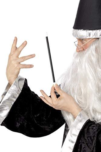 Smiffys Unisex Magischer Zauberstab, 33cm, Schwarz, 94034