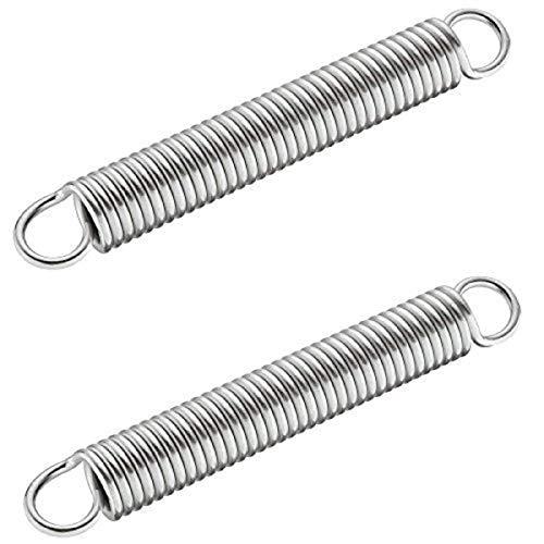 Gedotec Ersatz-Zugfedern 150 N für Parallel-Schwenkbeschlag | Metall verzinkt | Länge: 150 mm | Feder-Ø 21 mm | Doppelhaken Spannfeder | 2 Stück - Stahl-Federn für Kesseböhmer Parallel-Schwenkmechanik