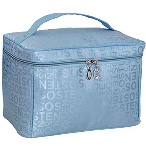 JIAN&K Trousse De Toilette Sac Cosmétique Grande Capacité Sac Cosmétique De Voyage pour Dames, Impression De Sac Cosmétique Big Blue