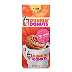 Dunkin' Donuts Bakery Series Cinnamon Roll Flavored Ground Coffee, 11 Ounces