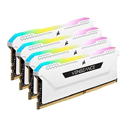 Corsair Vengeance Arbeitsspeicher (64 GB (4 x 16 GB), DDR4 3600 (PC4-28800) C18, 1,35 V, Weiss, CMH64GX4M4D3600C18W
