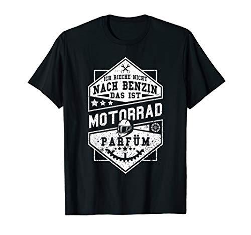 Motorrad Shirt Superbike Rennmaschine Spruch Benzin Parfüm
