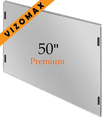 49 - 50-Zoll-Vizomax TV-Bildschirm-Schutz für LCD, LED und Plasma-HDTV. UV-Schutz, Fernseher-Displayschutz Protector