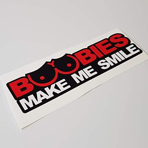folien-zentrum Boobs Make me Smile Shocker Hand Auto Aufkleber JDM Tuning OEM Dub Decal Stickerbomb Bombing Sticker Illest Dapper Fun Oldschool