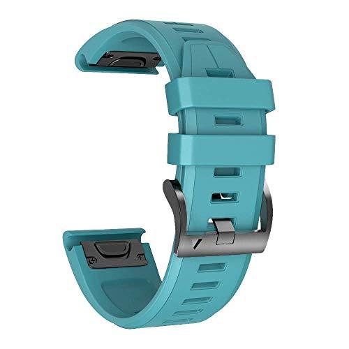 NotoCity Bracelet de Montre Souple en Silicone Compatible Fenix 5 de 22cm de Large,Compatible Garmin Fenix 5/Fenix 5 Plus/Forerunner 935/Approach S60/Quatix 5(Vert FONCÉ)