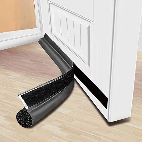 MAXTID Door Draft Blocker 32 inch Self Adhesive Door Bottom Seal Dust and Noise Insulation Window Breeze Blocker Gray
